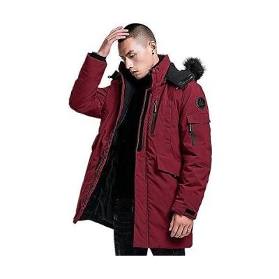 WEEN CHARM ロングコート ミリタリージャケット メンズ ブルゾン モッズコート 超暖かい 無地 冬物 中綿ダウン 秋