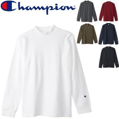 長袖 Tシャツ モックネック メンズ/チャンピオン Champion ベーシック スポーツ  ウェア   長袖シャツ トップス    /C3-S402