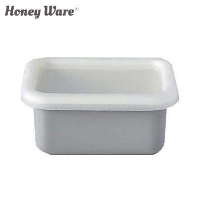 富士ホーロー Honey Ware Cotton 浅型角容器 レクタングル SS ライトグレー CTN-SS.LG 保存容器 ハニーウェア コットン CODE:334044
