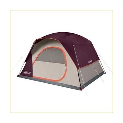 テント  Coleman Skydome 6 Person WeatherTec Easy Assembly Outdoor Family Camping Hiking Dome Tent, Blackberry 並行輸入品