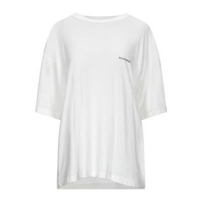 FAP  FILLES A PAPA T シャツ ホワイト 3 テンセル 67% / コットン 33% T シャツ