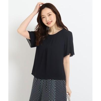 Reflect / 【洗える】五分袖刺繍シフォンブラウス WOMEN トップス > シャツ/ブラウス