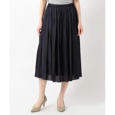 J.PRESS/ジェイプレス 【洗える】ヴィンテージサテン スカート ネイビー系 13