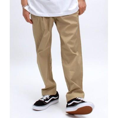 【Amerikaya】 綿麻レーヨン ベーカーパンツ メンズ ベージュ XL Amerikaya