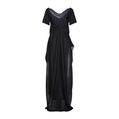 SUPER BLOND ロングワンピース&ドレス ダークブルー 40 シルク 100% ロングワンピース&ドレス