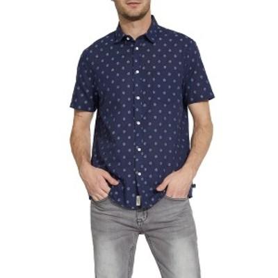 シビル ソサエティ メンズ シャツ トップス Naples Jacquard Button Up Shirt INDIGO