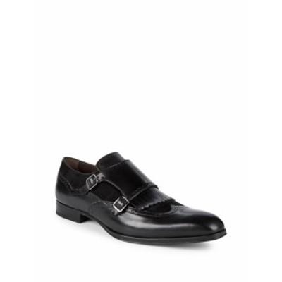 メズラン メンズ ドレスシューズ 革靴 Pinel Double Monk-Strap Leather Oxfords