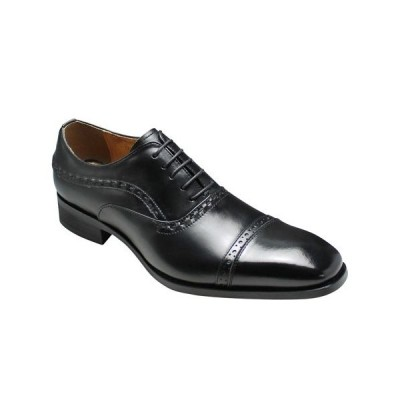 モデーロ/ビジネスシューズ ストレートチップ メダリオン/DM310 ブラック/ロングノーズ 3E幅広/メンズ 靴