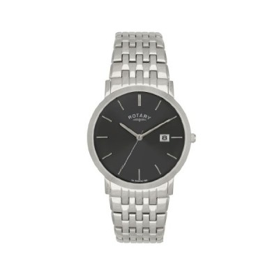Rotary GB02622/20 Gents White Case Stainless Steel Bracelet Watch 並行輸入品