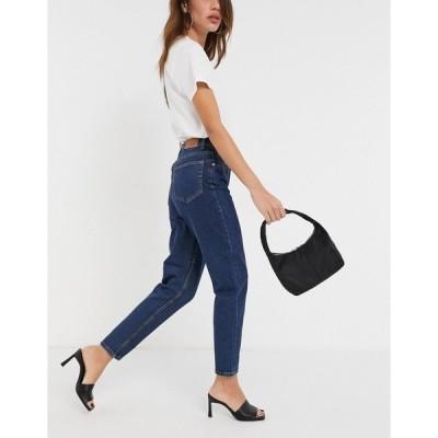 オブジェクト レディース デニムパンツ ボトムス Object Vinnie mom jeans in dark blue Dark blue