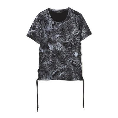 tシャツ Tシャツ TORNADO MART∴ダークアニマルレースアップカットソー