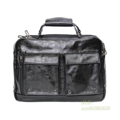超人気 トートバッグ メンズ 2way ビジネスバッグ 通学 通勤 かばん ショルダーバッグ ビジネストート バッグ 大容量 大きめ レザー A4
