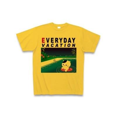 猫は毎日バケーション♪(DAY) Tシャツ(ゴールドイエロー)