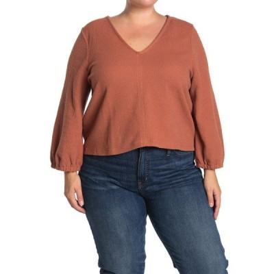 メイドウェル レディース Tシャツ トップス Texture & Thread Full Sleeve Top WARM UMBER