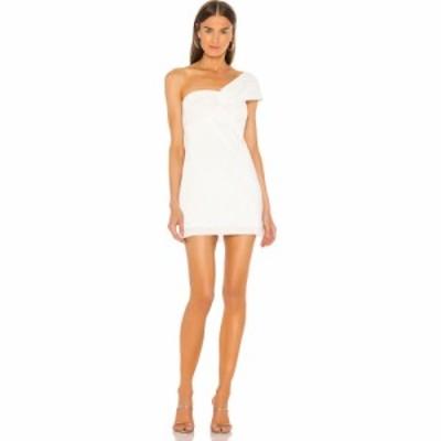 エヌビーディー NBD レディース ワンピース ミニ丈 ワンピース・ドレス Cleo Mini Dress Metallic White