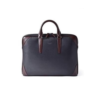 フジタカ ビジネスバッグ A4 薄マチ ジェードクラリーノデュエII No.624502 クロxチョコ