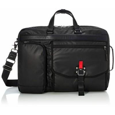 [アイエスプラス] ビジネスバッグ 軽量 高耐久・撥水コーティングポリエステル 多機能 フィドロックポケット 3WAY リュック ショルダーバ