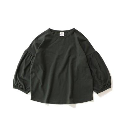 (devirock/デビロック)袖バルーン長袖Tシャツ/ ブラック