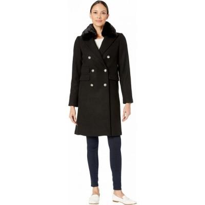 ヴィンス カムート Vince Camuto レディース コート ファーコート アウター Military Faux Fur Collar Wool Coat V29765 Black