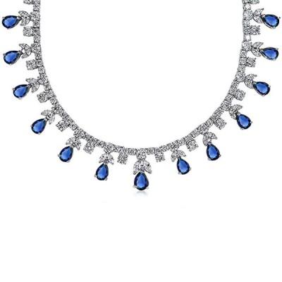ブリング ジュエリー Bling Jewelry Bridal ブルー CZ マルチ Teardrop Pear シェイプ Dangl(海外取寄せ品)