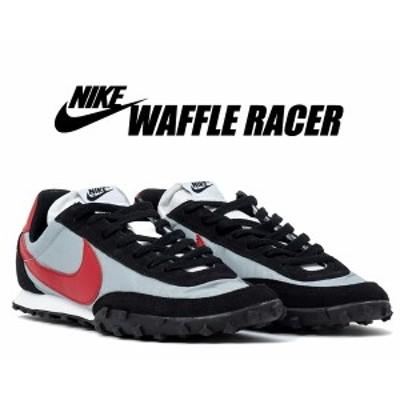【ナイキ ワッフルレーサー】NIKE WAFFLE RACER wolf grey/gym red-black-white cn5449-001 スニーカー グレー レッド ブラック