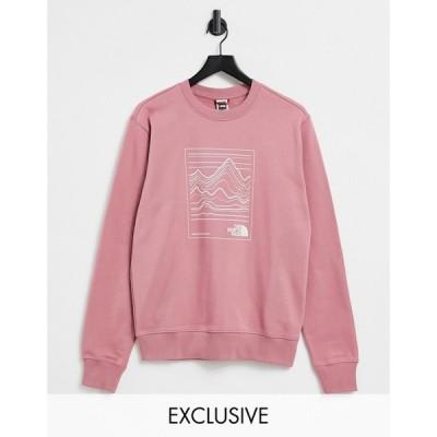 ザ ノースフェイス The North Face レディース スウェット・トレーナー トップス Stroke Mountain sweatshirt in pink
