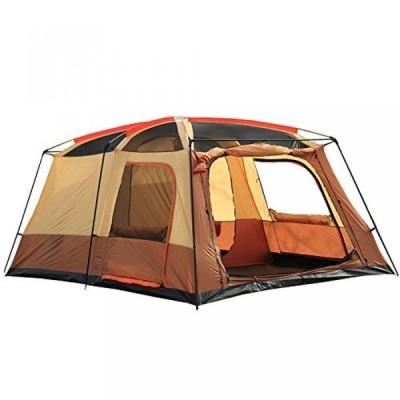 テント Shozafia Instant Family Tent for Camping Cabin Shelter, Brown, 8 Person, 2 Rooms