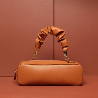 新しいハンドバッグショルダーメッセンジャーブロガーXiaojingレースフォールドハンドバッグレザーメスバッグ