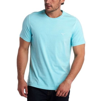 バーブァー メンズ Tシャツ トップス Men's Garment Dyed Crew-Neck T-Shirt