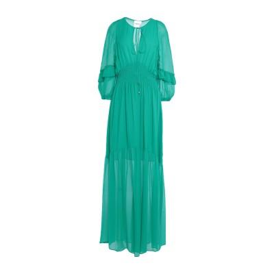 ANNARITA N TWENTY 4H ロングワンピース&ドレス グリーン 40 レーヨン 100% ロングワンピース&ドレス