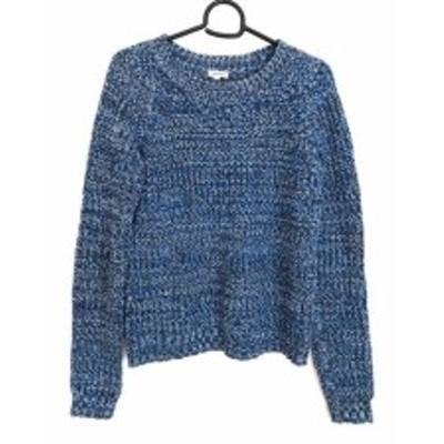 マヌーシュ MANOUSH 長袖セーター サイズXS レディース ブルー×白×ダークネイビー【中古】20200526