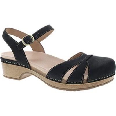 ダンスコ Dansko レディース サンダル・ミュール シューズ・靴 Betsey Closed Toe Sandal Black Milled Nubuck