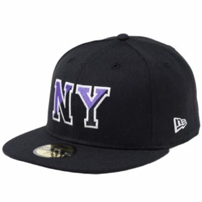 【新品】ニューエラ 5950キャップ マルチロゴ ベーシックファブリック ニューヨーク NY ブラック クローム ブラック New Era NewEra