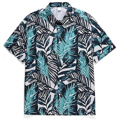 メンズ アロハシャツ おしゃれ プリント カラフル 速乾 開襟シャツ カジュアル(s2103100169)