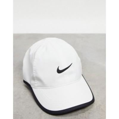 ナイキ レディース 帽子 アクセサリー Nike Featherlight adjustable cap in white White