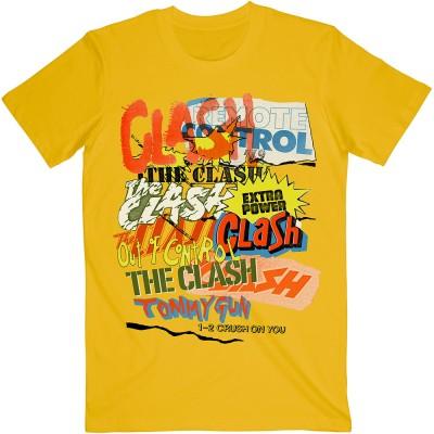 CLASH ザ・クラッシュ (結成45周年 ) - Singles Collage Text / Tシャツ / メンズ 【公式 / オフィシャル】(S)