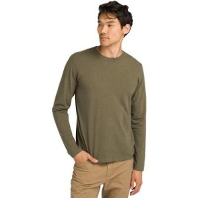 プラーナ メンズ シャツ トップス Crew Long-Sleeve T-Shirt - Men's Cargo Green Heather