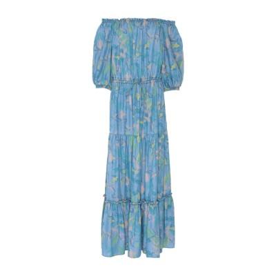 WEILI ZHENG ロングワンピース&ドレス ブルー S 指定外繊維(テンセル)® 100% ロングワンピース&ドレス