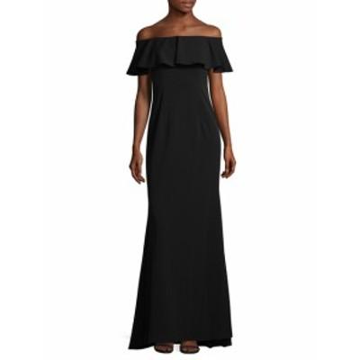アドリアーナ パペル レディース ワンピース Off-The-Shoulder Ruffle Gown