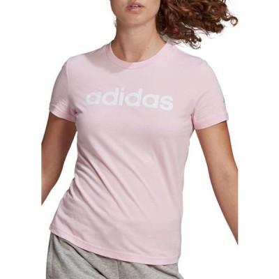 アディダス レディース Tシャツ トップス Essentials Slim Logo Graphic T-Shirt