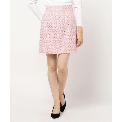 スカート 小花刺繍スカート