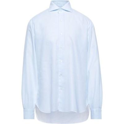 バルバ BARBA Napoli メンズ シャツ トップス Patterned Shirt Sky blue