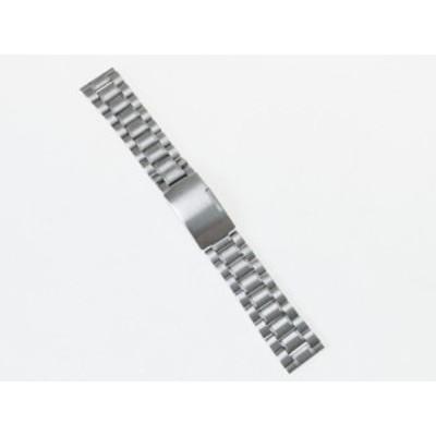 汎用 ステンレス製 腕時計 ベルト ブレスレット バンド Dバックル 交換用 20mm#シルバー【新品/送料込み】