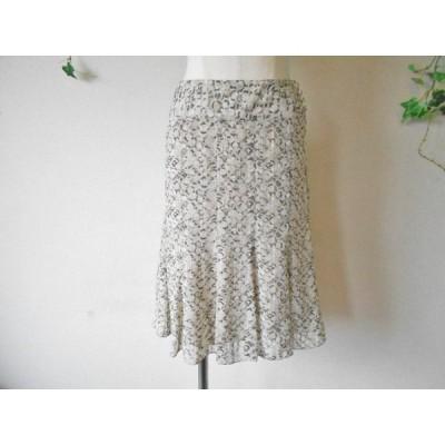 美品 インディヴィ INDIVI 春夏 向き お洒落 な ひざ丈 フレア スカート 36