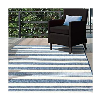 nuLOOM Heidi Multi Striped Indoor/Outdoor Accent Rug, 2' x 3', Blue