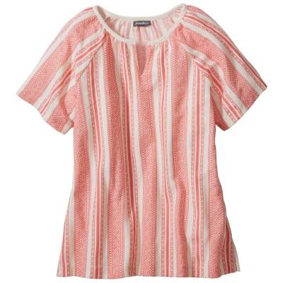 ウィメンズ 半袖ヘリンボーンプリントTシャツ