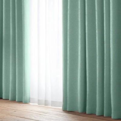 厚地カーテン D.コローレ(2枚組) ブルー 100×135cm