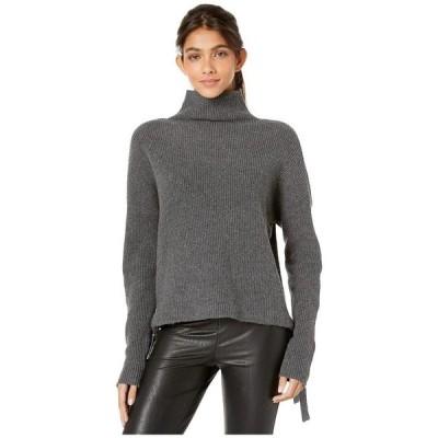 ビーシービージーマックスアズリア レディース ニット・セーター アウター Long Sleeve Pullover Sweater with Tie Detail