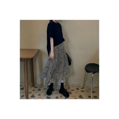 【送料無料】春 韓国風 ルース ハイウエスト 気質 スカート(中位の   346770_A64683-3575906