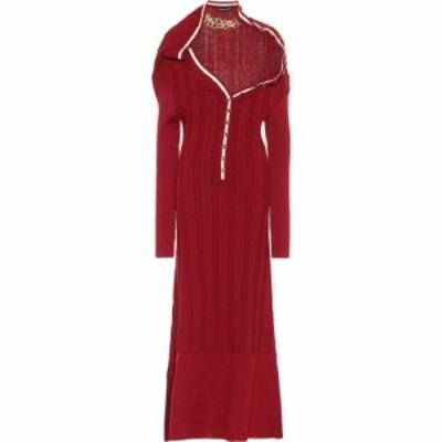ワイプロジェクト Y/PROJECT レディース ワンピース マキシ丈 ワンピース・ドレス embellished wool maxi dress Bordeaux